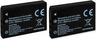 2X Baterías Klic-5001 para Kodak Easyshare DX6490 DX7440 DX7590 DX7630
