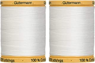 2-Pack - Gutermann Natural Cotton Thread Solids 876 Yards Each - White (800C 5709)