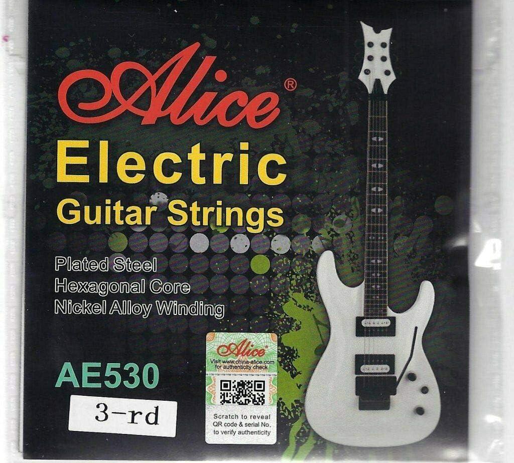 Alice - Juego de 5 cuerdas para guitarra eléctrica individual de acero .017