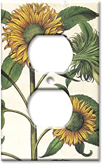Art Plates - Outlet Cover OVERSIZE Switch Plate/OVER SIZE Wall Plate - Sunflowers