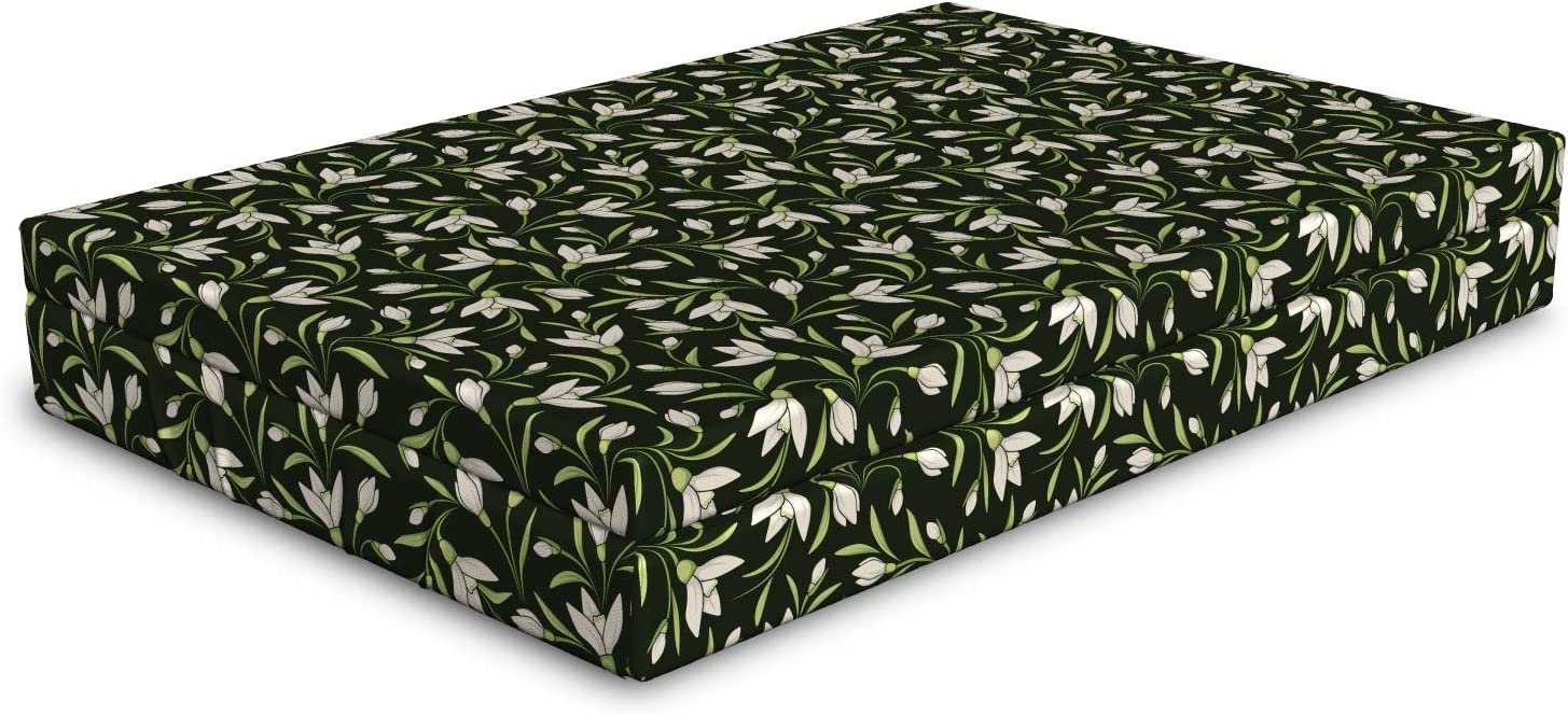 Ambesonne Garden Art Dog Bed Pattern Flowers Popular Dedication shop is the lowest price challenge with on a Snowdrop