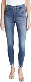 Good American Women's Good Waist with Chewed Hem Jeans