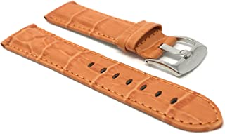 orange alligator watch strap