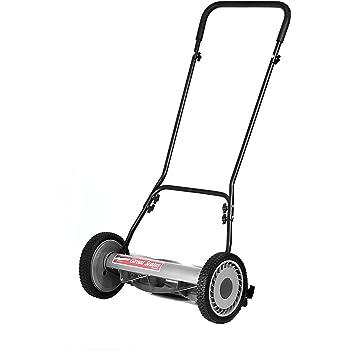 Great States 815-18 18-Inch 5-Blade Push Reel Lawn Mower, Grey