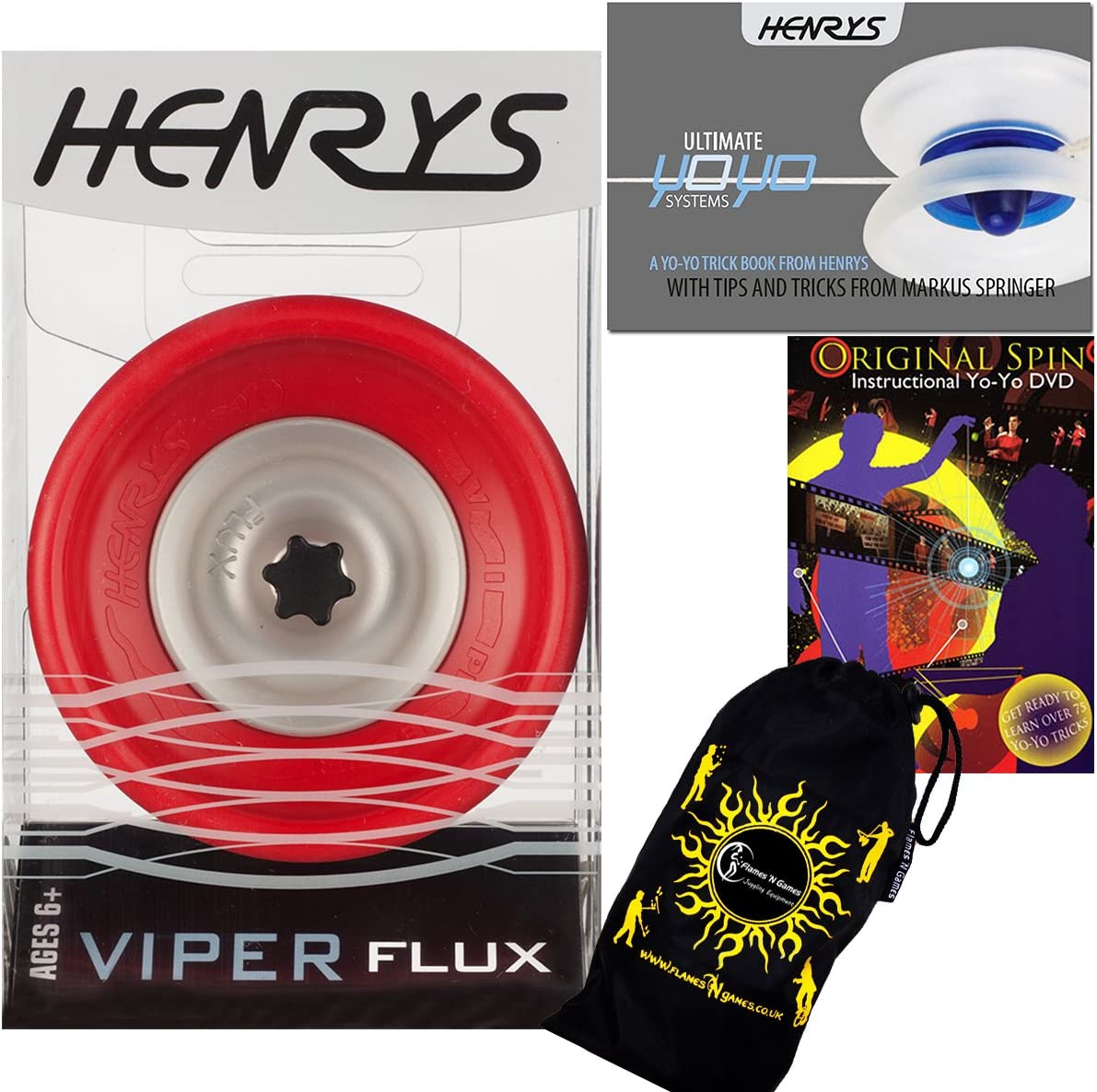 Henrys VIPER FLUX Many popular brands Pro YoYo Red String Be trust 4A Off Professional