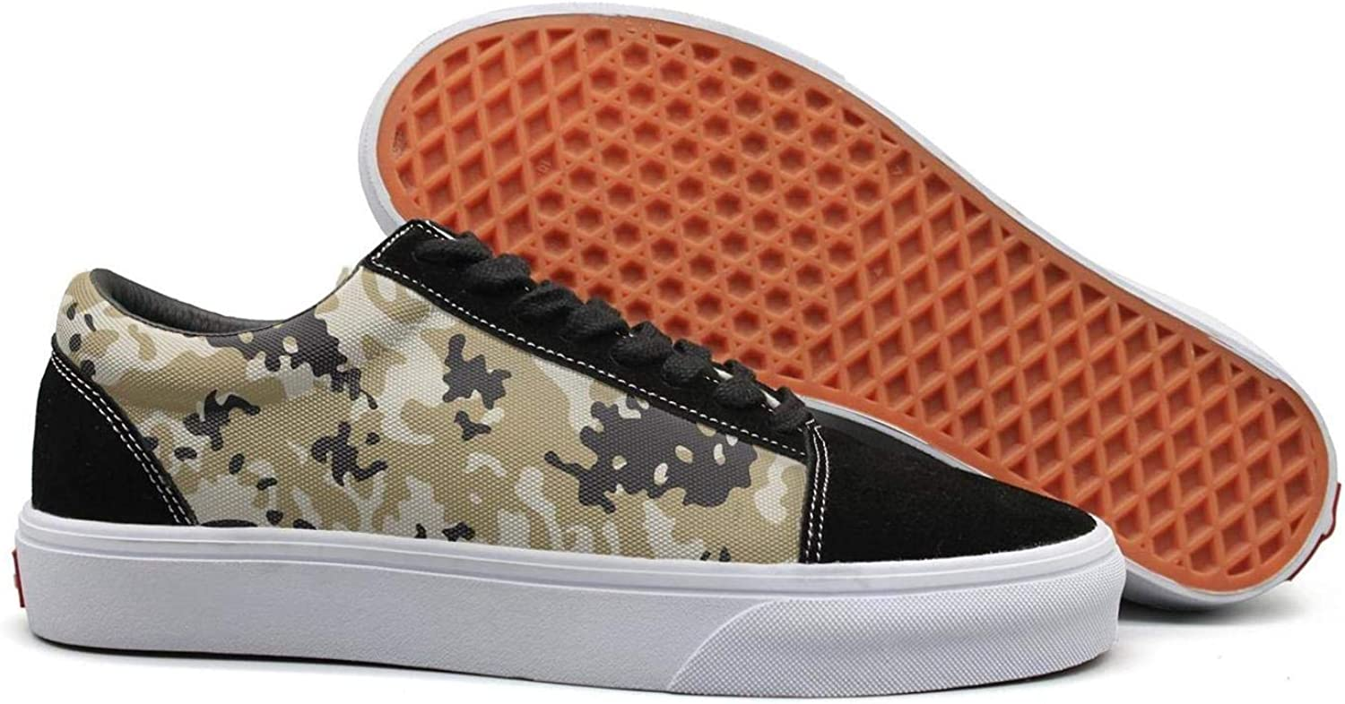 Uieort Army UK Desert camo Womens Lace up Sneakers shoes Casual