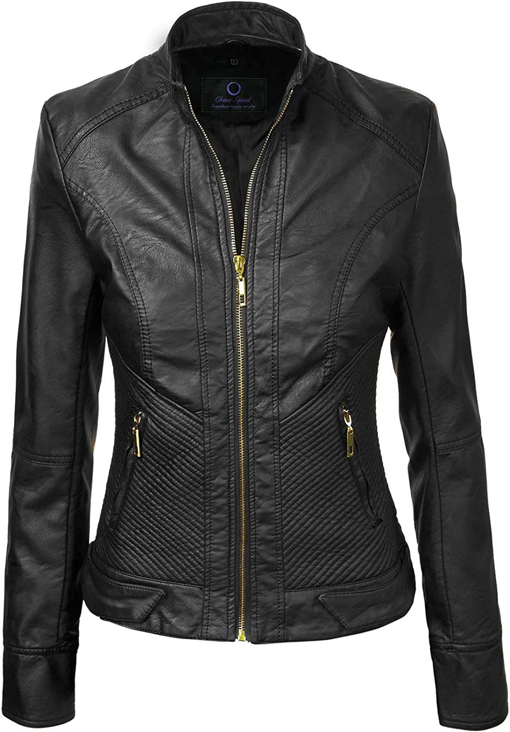 Chase Squad Pure Lambskin Leather Jackets for Women  Women Long Body Leather Jacket in Black