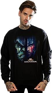 MARVEL Men's Thor Ragnarok Hulk Split Face Sweatshirt