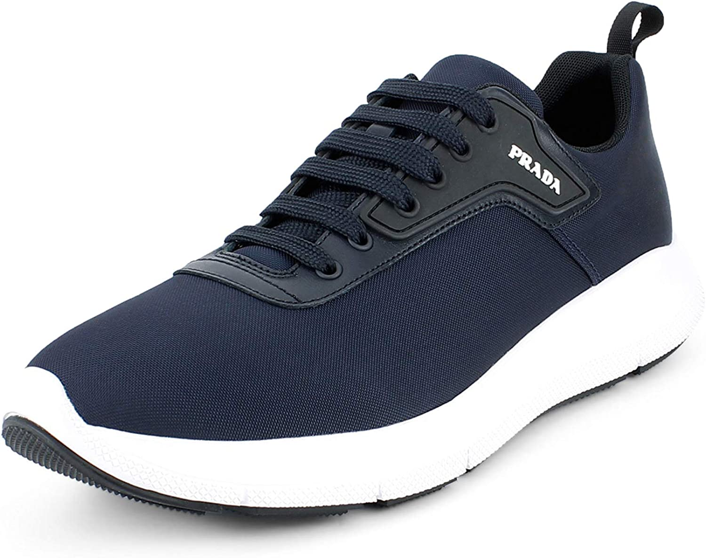 Max 42% OFF Prada Men's Nylon-Tech 1 Technical Fabric Sales Oltremare N Sneakers