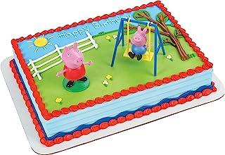 ارجوحة بتصميم بيبا بيغ، مجموعة تزيين الكعك ديكوسيت، قطع لتزيين الكعك، من ديكوباك