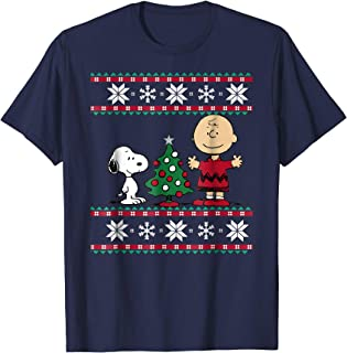 mens peanuts christmas shirt