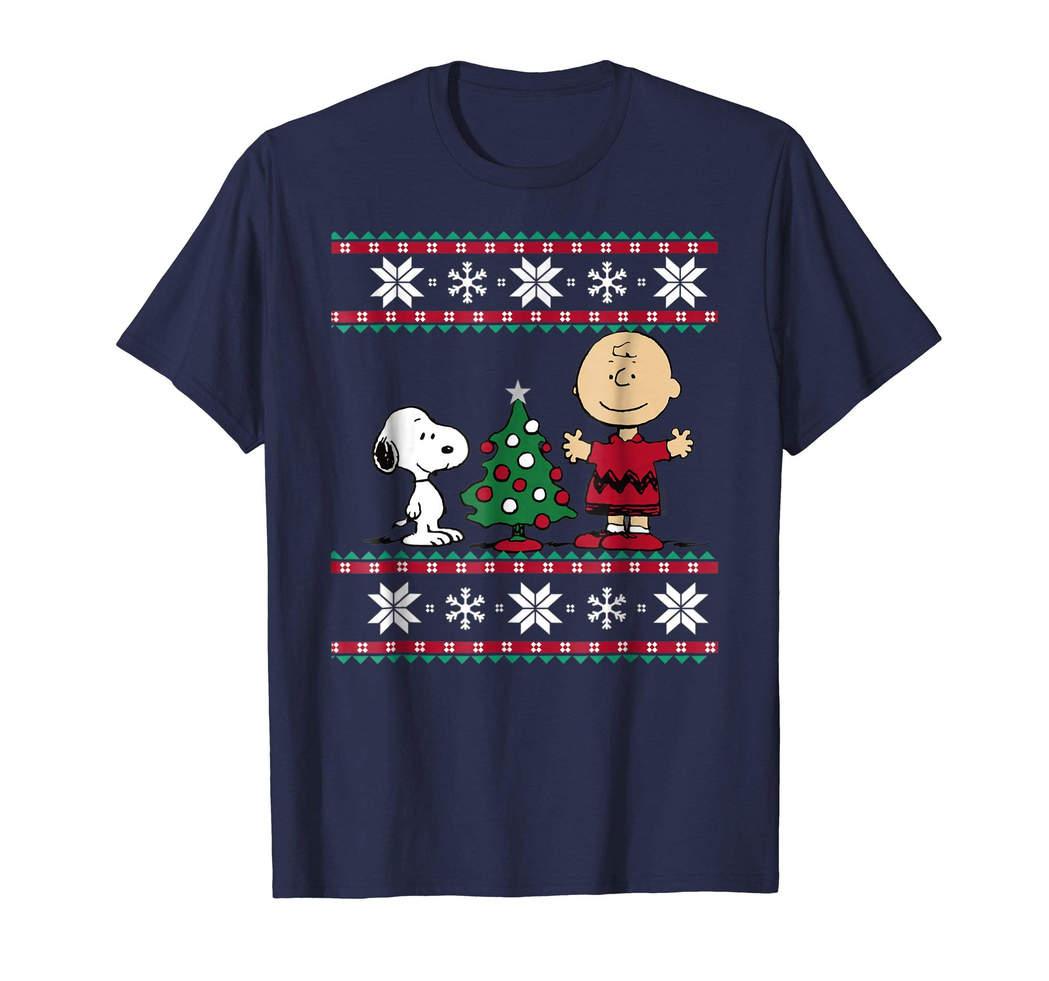 Image of Charlie Brown and Snoopy Christmas T-shirt for Adults and Kids - See More Colors