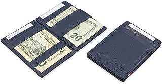 Thin Minimalist Genuine Leather Magic Wallet RFID Blocking for Men