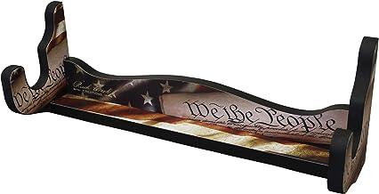 Rush Creek Creations Indoor Single Rifle/Shotgun Wall Storage Display Rack - Americana Finish - Convenient Assembly