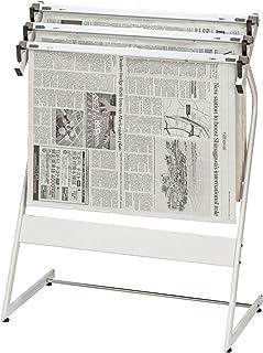 新聞架(3本タイプ) CR-SN351-W(スチールセイ) 新聞架