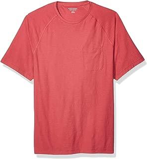 Amazon Essentials Men's Regular-Fit Slub Raglan Crew T-Shirt, Washed Red, X-Small