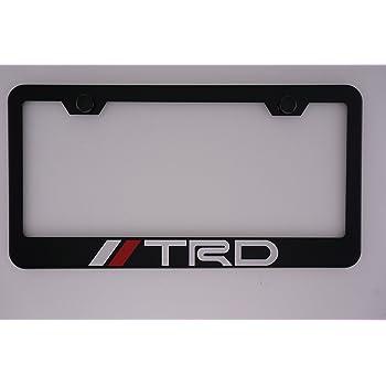 Fit Ram Matt Black Liecnese Plate Frame with Caps