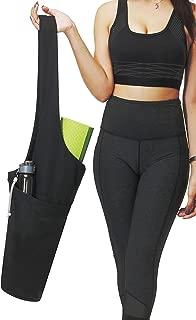 Bolso Yoga Mat de ONEGenug | Portabebés de estera de yoga con bolsillo lateral grande y bolsillo con cremallera | Se adapta a la mayoría de las alfombras de tamaño