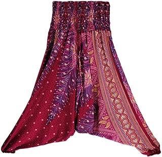 Women Casual Summer Loose Yoga Trousers Baggy Boho Aladdin Jumpsuit Harem Pants