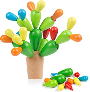 Comius Sharp - Comius Sharp Juguete de Montaje Cactus Juguete Cactus de Madera Niños Equilibrando Bloques de Construcción de Cactus, Juguete Montessori Madera Juego Creativo DIY Toys