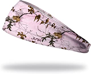 JUNK Brands Big Bang Lite Mountains Headband, Realtree Xtra Pink, One Size