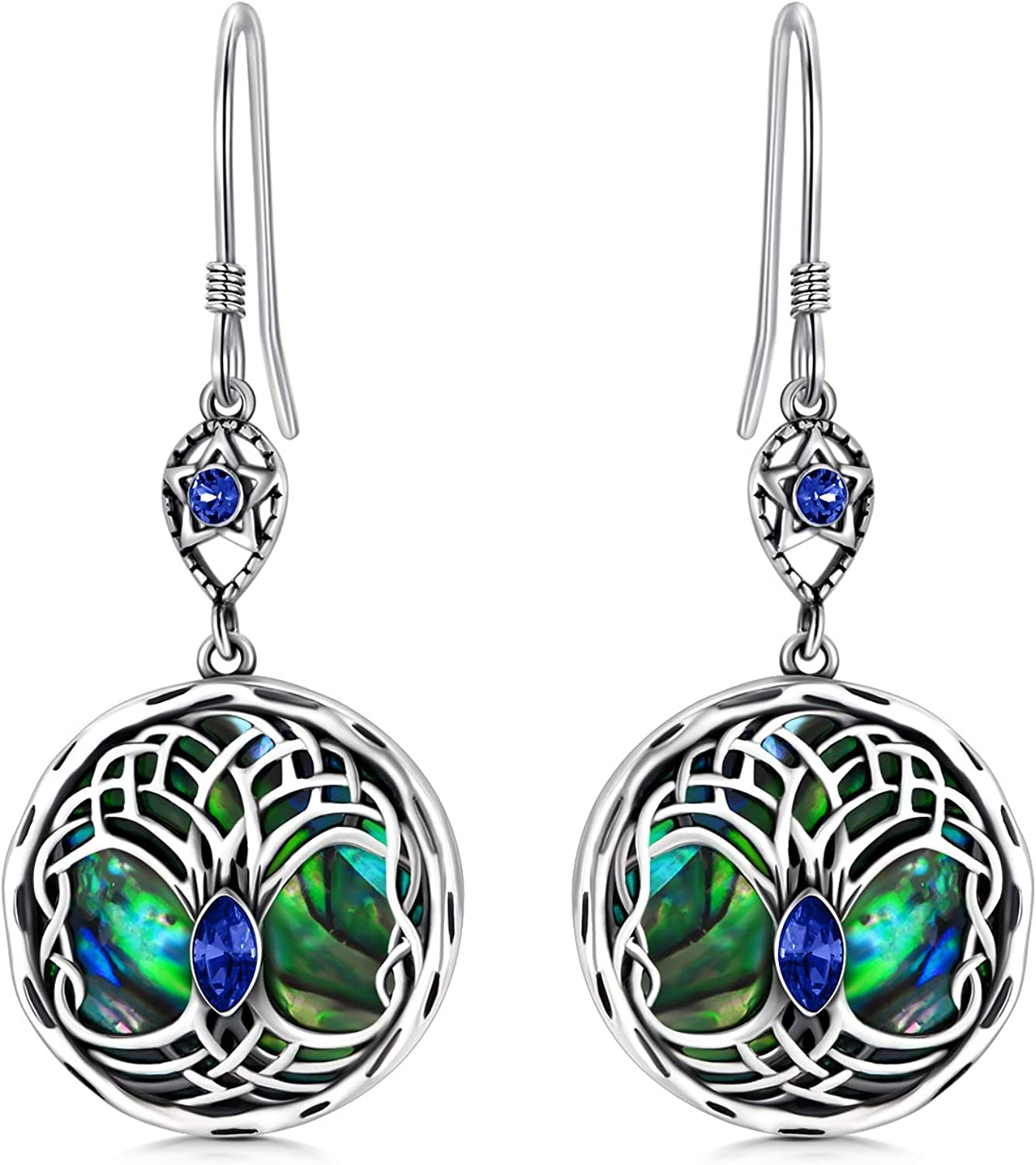 New products, world's highest quality popular! Celtic Tree of Life Earrings Silver Super sale period limited Dangle Sterling Family
