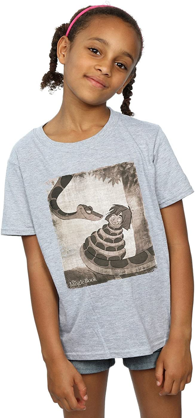 Disney Girls The Jungle Book Hypnosis T-Shirt 5-6 Years Sport Grey