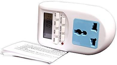 Blackt Electrotech 230V 24x7 Energy Saving Socket Type Digital Programmable Plastic Electronic Timer (White)