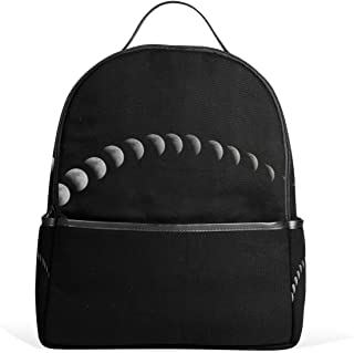 MUOOUM Awesome Solar Planet Earth Lunar Backpack Casual Daypack School College Travel Bag for Teens Boys Girls