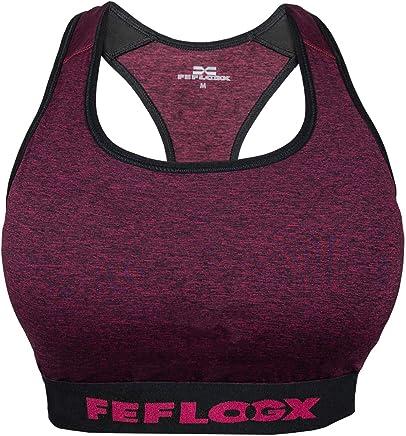 48be019f3f2730 Feflogx Sportswear Damen Sport-BH Motion   Hochwertiger Trainings-BH mit  Racerback-Schnitt  ... Feflogx Sportswear Lange Damen Leggings ...