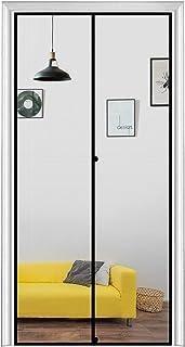 """MAGZO Magnetic Screen Door 36`` x 80`` Grey, Durable Fiberglass Screen Doors with Magnets Fit Door Size 36"""" x 80"""" Patio En..."""