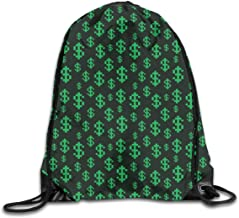 Ejjheadband Money Twin Size Duvet Cover Set, Pixel Art Inspirations In Eighties Style Dollar Sign Banking Business,Dark Green Lime Green_2Travel Daypack