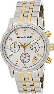 Michael Kors Womens Quartz Watch, Analog Display and Stainless Steel Strap MK5057