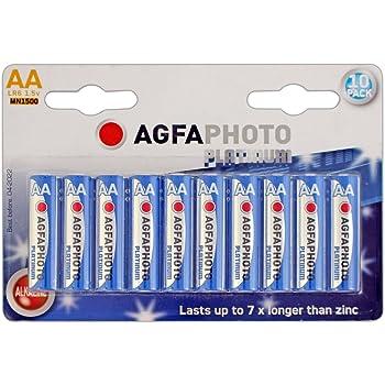 AgfaPhoto 110-803951 - Pilas alcalinas AA, Pack de 10 Unidades ...