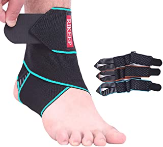 Best Ankle Support,Adjustable Ankle Brace Breathable Nylon Material Super Elastic and Comfortable,1 Size Fits all, Protects Against Chronic Ankle Strain, Sprains Fatigue,blue Review