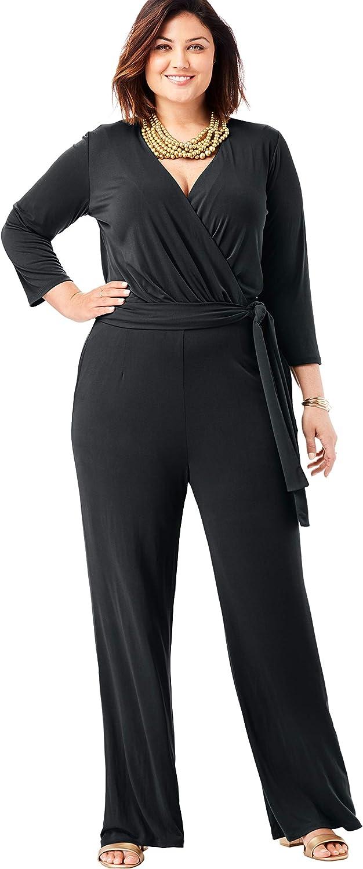 Jessica London Women's Plus Size Wide Leg Jumpsuit