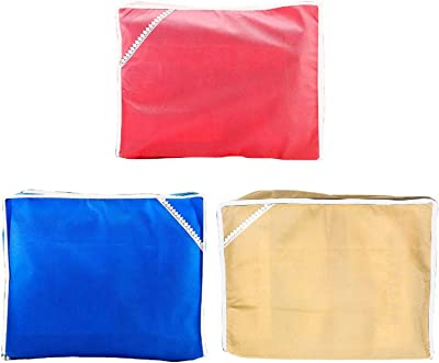 Kuber Industries 15 Pieces Non Woven Packing Saree Cover 12 Pcs Set & 3 Pcs Multi Saree Cover (COM856)