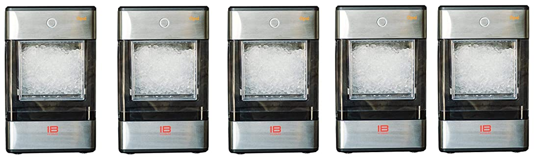 FirstBuild Opal01 Opal Nugget Ice Maker Portable, Countertop, Stainless Steel with Black Accents, 1-(Pack), Wrap (Pack of 5)