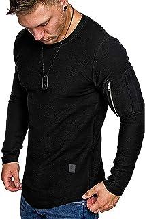 Halfword Mens Casual Long Sleeve Tshirts Boys Workout Sports Sweatshirts with Pockets M-2XL
