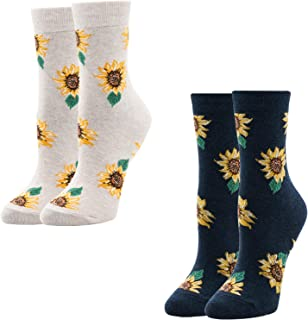 Painting Sunflower Unisex Funny Casual Crew Socks Athletic Socks For Boys Girls Kids Teenagers