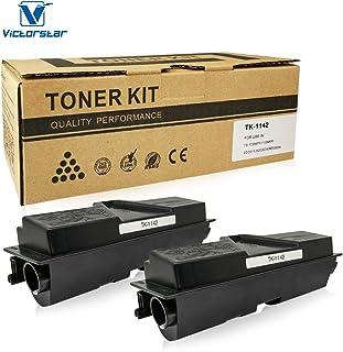 VICTORSTAR Compatible Toner Cartridges 2 Blacks TK1142 / TK-1142 for Kyocera-Mita FS-1035MFP/DP/1135MFP/ECOSYS M2035DN/M2535DN Laser Printers, OEM Part Number TK1142 Page Yield 7200