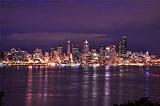 Wooden Puzzle Jigsaw 1000 Piece Seattle City Night Lights Bay Puzzles Educational Toys For Adult Birthday Gift Home Decora...