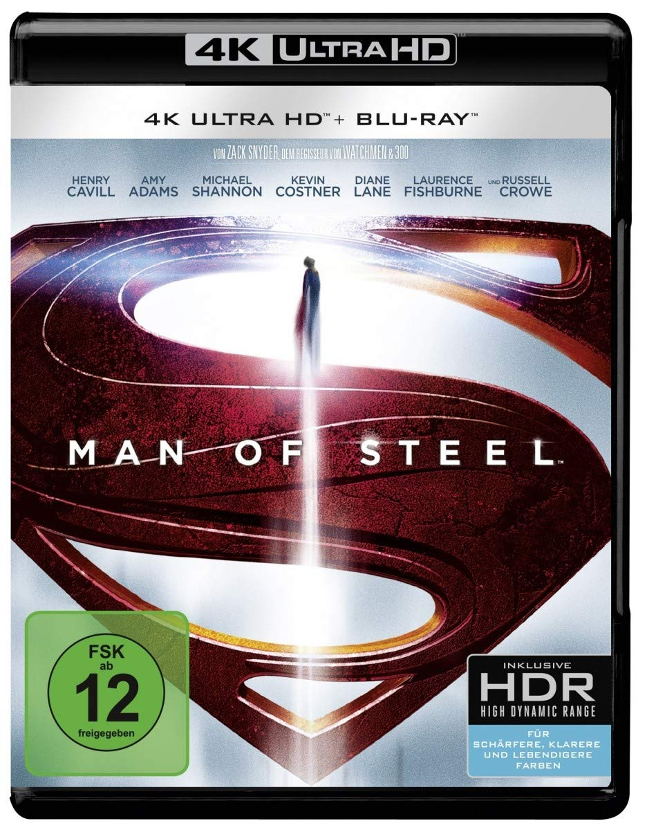 Man of Steel (4K Ultra HD) (+ Blu-ray) [Alemania] [Blu-ray]