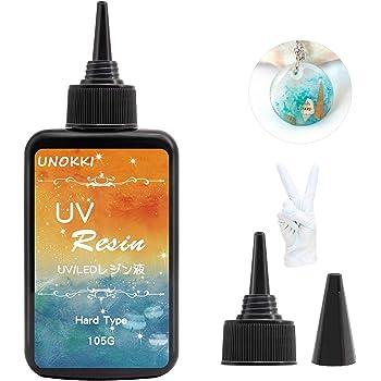 UNOKKI レジン液-105g uvレジン液大容量- UV樹脂UV硬化 DIYジュエリー作成用のクリスタルクリアな紫外線硬化エポキシ樹脂、クラフトデコレーション-キャスティング&コーティング uvレジン液安い用のハードトランスペアレントグルーソーラーキュアサンライト活性化樹脂、DIY樹脂モールド uvレジンえき液