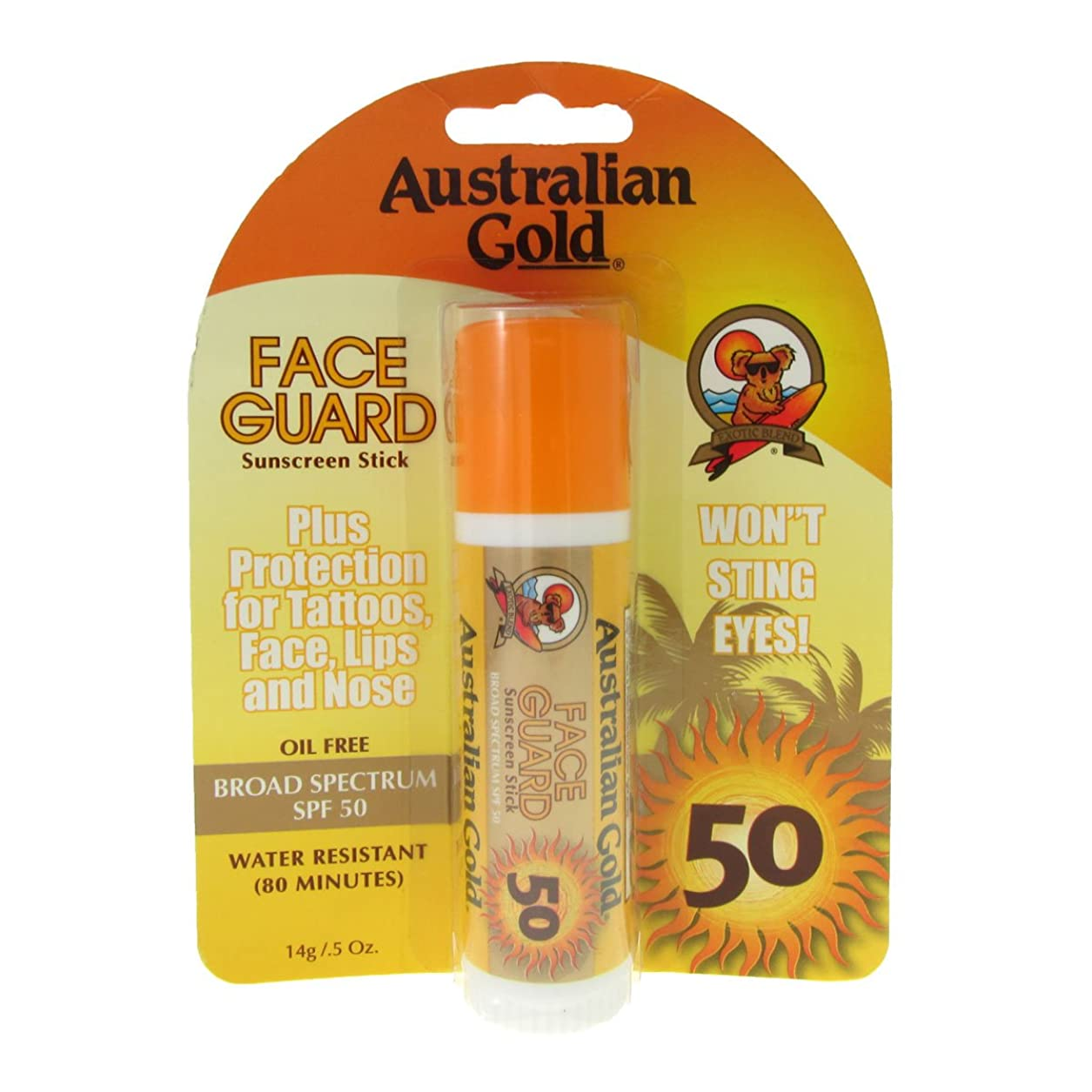 パントリーシャベルのためAustralian Gold Face Guard Spf50 Stick 14gr [並行輸入品]
