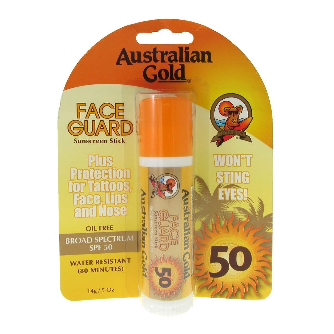 惑星エキゾチック大砲Australian Gold Face Guard Spf50 Stick 14gr [並行輸入品]