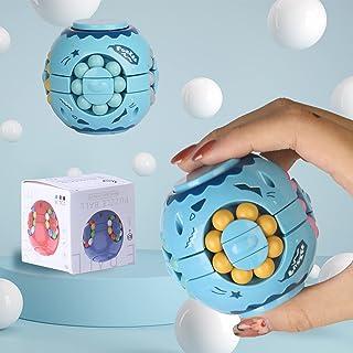 HUALEDI Magic Rotating Bean Fidget Toy,Colorful Stress Relief Anti-Anxiety Magic Beads,Magic Cube Bean Novelty Fingertip T...