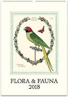 Cavallini Papers 2018 Flora & Fauna Wall Calendar