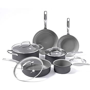 GreenPan Chatham ceramic Non-Stick 10Pc Cookware Set, Grey - CC000126-001