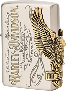 Zippo Harley Davidson Japan Limited 3-Side Oxidized Brass Eagle Metal HDP-75